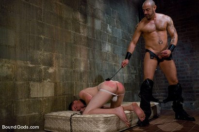 Photo number 8 from The Perv and His Sk8ter Boy shot for Bound Gods on Kink.com. Featuring CJ Madison and Aaron Adams in hardcore BDSM & Fetish porn.