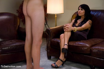 Photo number 1 from Casting Couch - Foxxy  shot for TS Seduction on Kink.com. Featuring TS Foxxy and Derrick P. in hardcore BDSM & Fetish porn.