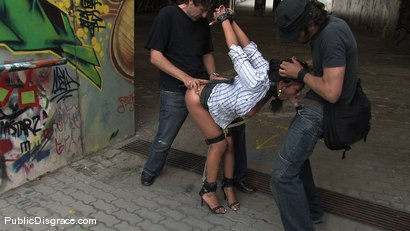 Photo number 9 from Yoha: All natural Latin babe dominated and used in public shot for Public Disgrace on Kink.com. Featuring Zenza Raggi, Steve Holmes and Yoha in hardcore BDSM & Fetish porn.