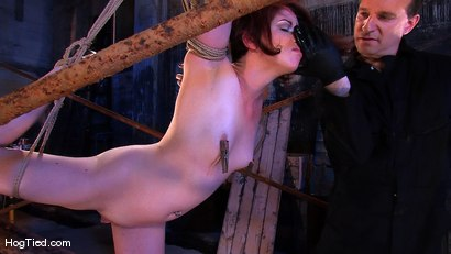 Photo number 4 from Lilla Katt:  She loves some Pain with her Pleasure shot for Hogtied on Kink.com. Featuring Lilla Katt in hardcore BDSM & Fetish porn.