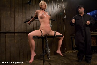Photo number 10 from Mason<br>Former All-American Track Star<br>Local Amateur Girl shot for Device Bondage on Kink.com. Featuring Mason in hardcore BDSM & Fetish porn.