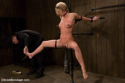 Photo number 6 from Mason<br>Former All-American Track Star<br>Local Amateur Girl shot for Device Bondage on Kink.com. Featuring Mason in hardcore BDSM & Fetish porn.