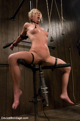 Photo number 9 from Mason<br>Former All-American Track Star<br>Local Amateur Girl shot for Device Bondage on Kink.com. Featuring Mason in hardcore BDSM & Fetish porn.