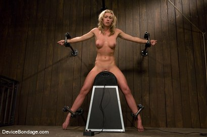 MasonFormer college track star bound on sybian made to cum.