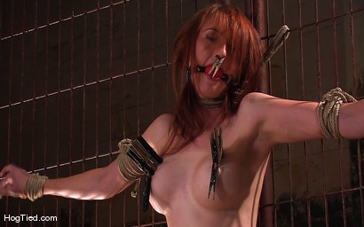 Photo number 1 from Hot Redheaded Prisoner Made to endure multiple orgasms shot for Hogtied on Kink.com. Featuring Kendra James in hardcore BDSM & Fetish porn.
