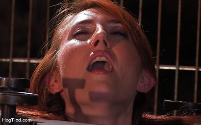 Photo number 11 from Hot Redheaded Prisoner Made to endure multiple orgasms shot for Hogtied on Kink.com. Featuring Kendra James in hardcore BDSM & Fetish porn.