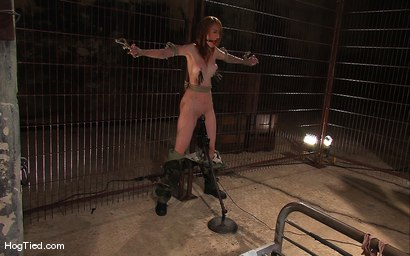Photo number 2 from Hot Redheaded Prisoner Made to endure multiple orgasms shot for Hogtied on Kink.com. Featuring Kendra James in hardcore BDSM & Fetish porn.