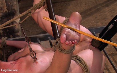 Photo number 5 from Hot Redheaded Prisoner Made to endure multiple orgasms shot for Hogtied on Kink.com. Featuring Kendra James in hardcore BDSM & Fetish porn.