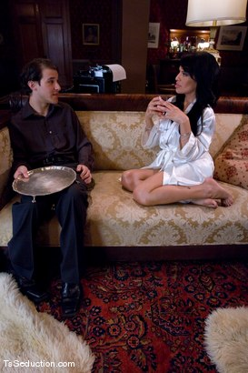 Photo number 2 from Foxxy seduces the help shot for TS Seduction on Kink.com. Featuring TS Foxxy and Marc Jackson in hardcore BDSM & Fetish porn.