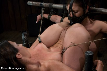 Photo number 11 from Claire Dames and Wenona<br>There is something you don't see everyday shot for Device Bondage on Kink.com. Featuring Wenona and Claire Dames in hardcore BDSM & Fetish porn.