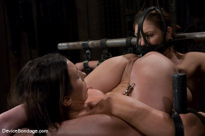 Photo number 14 from Claire Dames and Wenona<br>There is something you don't see everyday shot for Device Bondage on Kink.com. Featuring Wenona and Claire Dames in hardcore BDSM & Fetish porn.