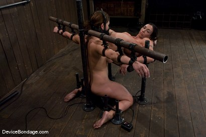 Photo number 3 from Claire Dames and Wenona<br>There is something you don't see everyday shot for Device Bondage on Kink.com. Featuring Wenona and Claire Dames in hardcore BDSM & Fetish porn.