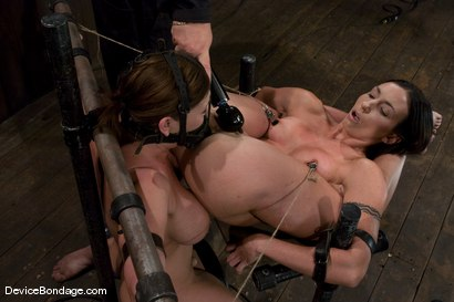 Photo number 7 from Claire Dames and Wenona<br>There is something you don't see everyday shot for Device Bondage on Kink.com. Featuring Wenona and Claire Dames in hardcore BDSM & Fetish porn.