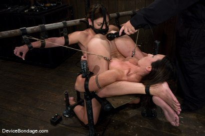 Photo number 8 from Claire Dames and Wenona<br>There is something you don't see everyday shot for Device Bondage on Kink.com. Featuring Wenona and Claire Dames in hardcore BDSM & Fetish porn.