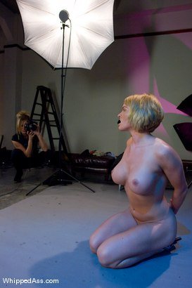 Photo number 5 from The Modeling Experience shot for Whipped Ass on Kink.com. Featuring Krissy Lynn and Maitresse Madeline Marlowe in hardcore BDSM & Fetish porn.