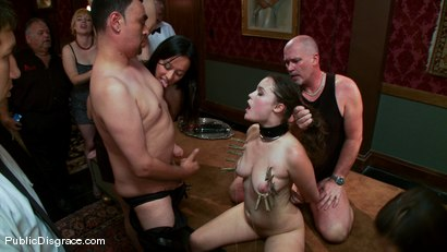 Photo number 13 from The Party Hole shot for Public Disgrace on Kink.com. Featuring Mark Davis and Charlotte Vale in hardcore BDSM & Fetish porn.