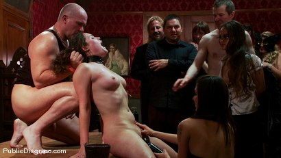 Photo number 14 from The Party Hole shot for Public Disgrace on Kink.com. Featuring Mark Davis and Charlotte Vale in hardcore BDSM & Fetish porn.