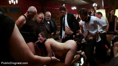 Photo number 6 from The Party Hole shot for Public Disgrace on Kink.com. Featuring Mark Davis and Charlotte Vale in hardcore BDSM & Fetish porn.