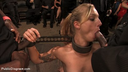 Photo number 3 from Local amateur tries BDSM for the first time ever and is rewarded with 4 hard black cocks! shot for Public Disgrace on Kink.com. Featuring Catrina Cummings and Jack Hammer in hardcore BDSM & Fetish porn.