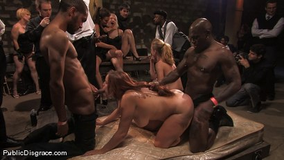 Photo number 6 from Local amateur tries BDSM for the first time ever and is rewarded with 4 hard black cocks! shot for Public Disgrace on Kink.com. Featuring Catrina Cummings and Jack Hammer in hardcore BDSM & Fetish porn.