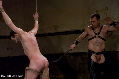 Photo number 2 from Thank you, Sir! shot for Bound Gods on Kink.com. Featuring Dak Ramsey and Jason Miller in hardcore BDSM & Fetish porn.