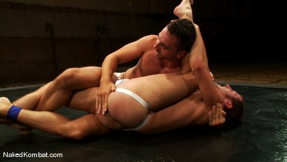 Photo number 4 from Derrek Diamond vs Brandon Monroe shot for Naked Kombat on Kink.com. Featuring Brandon Monroe and Derrek Diamond in hardcore BDSM & Fetish porn.