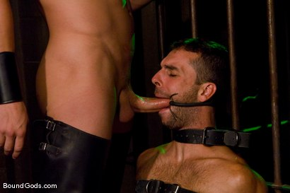 Photo number 4 from Slave Daydreaming shot for Bound Gods on Kink.com. Featuring Brandon Monroe and Rusty Stevens in hardcore BDSM & Fetish porn.