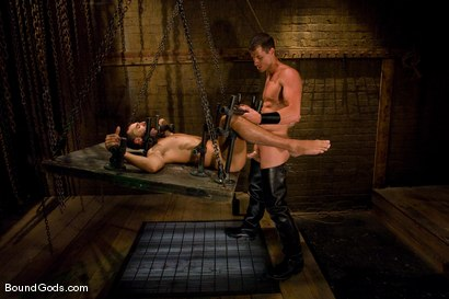 Photo number 9 from Slave Daydreaming shot for Bound Gods on Kink.com. Featuring Brandon Monroe and Rusty Stevens in hardcore BDSM & Fetish porn.