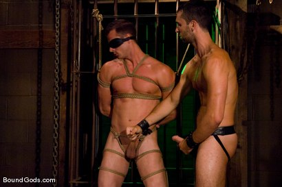 Photo number 1 from Slave Daydreaming shot for Bound Gods on Kink.com. Featuring Brandon Monroe and Rusty Stevens in hardcore BDSM & Fetish porn.