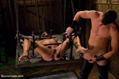 Photo number 11 from Slave Daydreaming shot for Bound Gods on Kink.com. Featuring Brandon Monroe and Rusty Stevens in hardcore BDSM & Fetish porn.