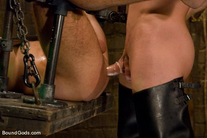 Photo number 13 from Slave Daydreaming shot for Bound Gods on Kink.com. Featuring Brandon Monroe and Rusty Stevens in hardcore BDSM & Fetish porn.