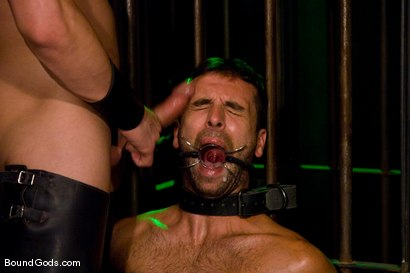 Photo number 3 from Slave Daydreaming shot for Bound Gods on Kink.com. Featuring Brandon Monroe and Rusty Stevens in hardcore BDSM & Fetish porn.