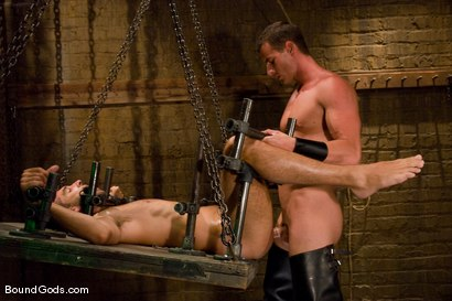 Photo number 14 from Slave Daydreaming shot for Bound Gods on Kink.com. Featuring Brandon Monroe and Rusty Stevens in hardcore BDSM & Fetish porn.
