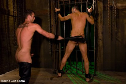 Photo number 5 from Slave Daydreaming shot for Bound Gods on Kink.com. Featuring Brandon Monroe and Rusty Stevens in hardcore BDSM & Fetish porn.