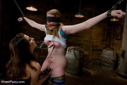 Photo number 3 from Two weeks after turning 18 Ivy fulfills her lifelong fantasy of being tied up and dominated!!! shot for Wired Pussy on Kink.com. Featuring Princess Donna Dolore and Ivy Mokhov in hardcore BDSM & Fetish porn.