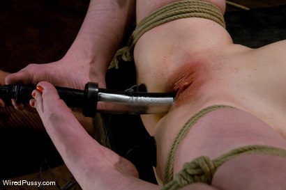 Photo number 9 from Two weeks after turning 18 Ivy fulfills her lifelong fantasy of being tied up and dominated!!! shot for Wired Pussy on Kink.com. Featuring Princess Donna Dolore and Ivy Mokhov in hardcore BDSM & Fetish porn.