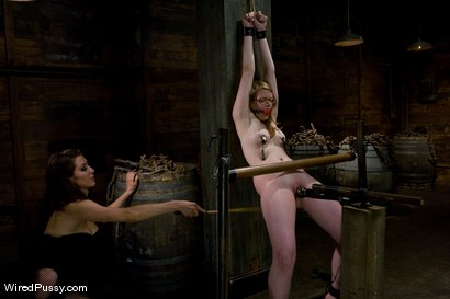 Photo number 13 from Two weeks after turning 18 Ivy fulfills her lifelong fantasy of being tied up and dominated!!! shot for Wired Pussy on Kink.com. Featuring Princess Donna Dolore and Ivy Mokhov in hardcore BDSM & Fetish porn.