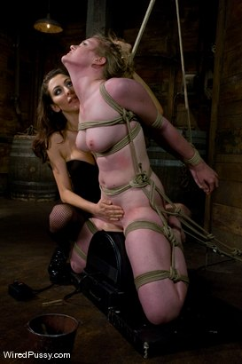 Photo number 7 from Two weeks after turning 18 Ivy fulfills her lifelong fantasy of being tied up and dominated!!! shot for Wired Pussy on Kink.com. Featuring Princess Donna Dolore and Ivy Mokhov in hardcore BDSM & Fetish porn.