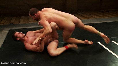 Photo number 7 from Rusty Stevens vs David Chase shot for Naked Kombat on Kink.com. Featuring David Chase and Rusty Stevens in hardcore BDSM & Fetish porn.
