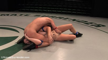 """Photo number 10 from Ariel """"The Assassin"""" X (0-0)<br>vs<br>Savannah """"The Cupcake"""" West (0-0) shot for Ultimate Surrender on Kink.com. Featuring Ariel X and Savannah West in hardcore BDSM & Fetish porn."""