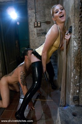 Photo number 10 from Who's the Little Bitch Now? shot for Divine Bitches on Kink.com. Featuring Maitresse Madeline Marlowe  and Rico in hardcore BDSM & Fetish porn.