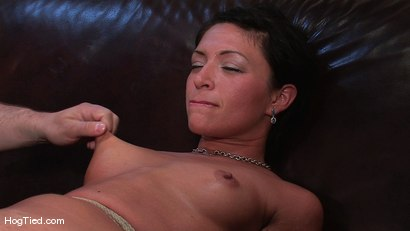 Photo number 9 from Amateur Casting Couch 22: Charolette is insatiable!  shot for Hogtied on Kink.com. Featuring Charolette Bloom in hardcore BDSM & Fetish porn.
