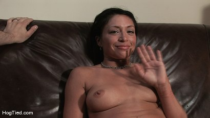 Photo number 15 from Amateur Casting Couch 22: Charolette is insatiable!  shot for Hogtied on Kink.com. Featuring Charolette Bloom in hardcore BDSM & Fetish porn.
