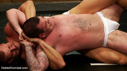Photo number 3 from Dak Ramsey vs Mitch Colby shot for Naked Kombat on Kink.com. Featuring Mitch Colby and Dak Ramsey in hardcore BDSM & Fetish porn.