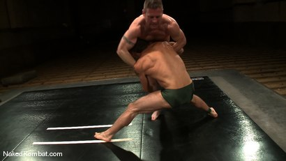 Photo number 2 from Dean Tucker vs DJ<br />The Oil Match shot for Naked Kombat on Kink.com. Featuring Dean Tucker and DJ in hardcore BDSM & Fetish porn.