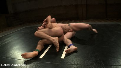 Photo number 7 from Dean Tucker vs DJ<br />The Oil Match shot for Naked Kombat on Kink.com. Featuring Dean Tucker and DJ in hardcore BDSM & Fetish porn.