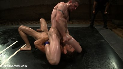 Photo number 6 from Dean Tucker vs DJ<br />The Oil Match shot for Naked Kombat on Kink.com. Featuring Dean Tucker and DJ in hardcore BDSM & Fetish porn.