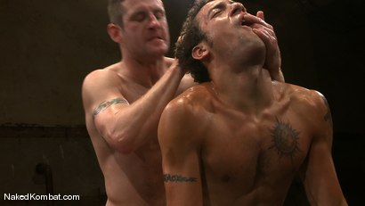 Photo number 8 from Dean Tucker vs DJ<br />The Oil Match shot for Naked Kombat on Kink.com. Featuring Dean Tucker and DJ in hardcore BDSM & Fetish porn.