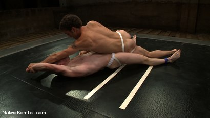 Photo number 3 from Dean Tucker vs DJ<br />The Oil Match shot for Naked Kombat on Kink.com. Featuring Dean Tucker and DJ in hardcore BDSM & Fetish porn.