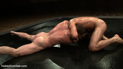 Photo number 5 from Dean Tucker vs DJ<br />The Oil Match shot for Naked Kombat on Kink.com. Featuring Dean Tucker and DJ in hardcore BDSM & Fetish porn.